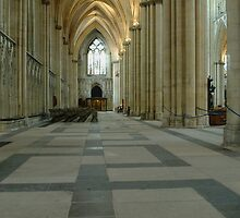 York Minster interior (cathedral) England by John Butterfield