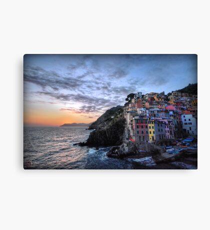 Sunset at Riomaggiore Canvas Print