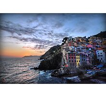Sunset at Riomaggiore Photographic Print