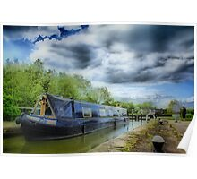 Narrow Boat on Grand Union Canal Poster