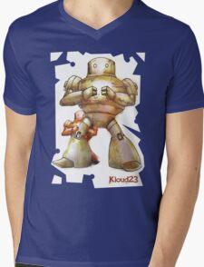 Robot Papa Mens V-Neck T-Shirt