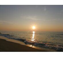 5:58 AM Beach Sunrise Photographic Print