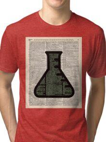 Green Chemistry Alchemy Test Tube Dictionary Art Tri-blend T-Shirt