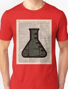 Green Chemistry Alchemy Test Tube Dictionary Art Unisex T-Shirt