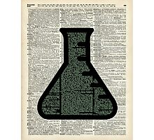 Green Chemistry Alchemy Test Tube Dictionary Art Photographic Print