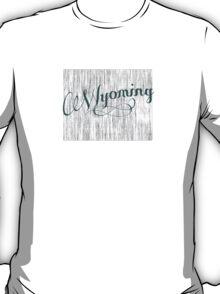 Wyoming State Typography T-Shirt