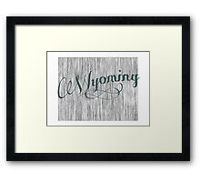 Wyoming State Typography Framed Print