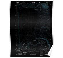 USGS Topo Map Oregon Sycan Marsh East 20110808 TM Inverted Poster