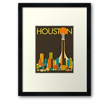 Houston Skyline Framed Print