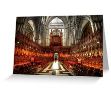 York Minster Glory Greeting Card