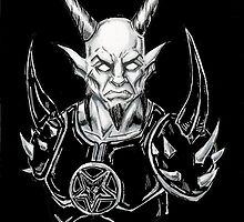 Copic Design Goatlord Death Metal Art Black by Alaric  Barca