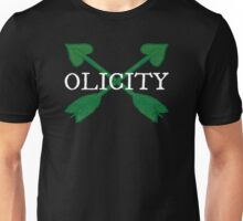 Olicity - Crossing Green Heart Arrows Unisex T-Shirt