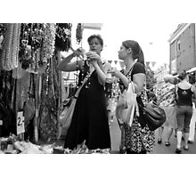 Beads, shawls and coke Photographic Print