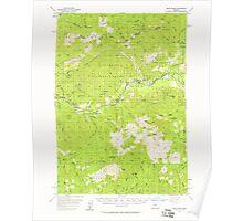 USGS Topo Map Oregon Blue River 282261 1955 62500 Poster