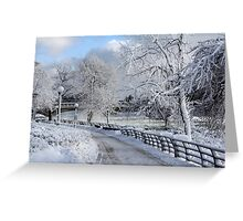 Glacial path Greeting Card