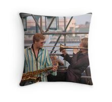 Horn Duet Throw Pillow