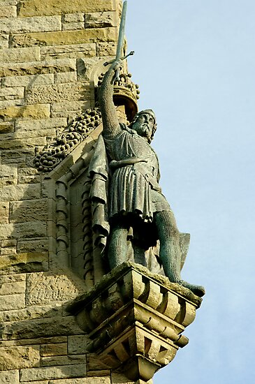 William Wallace statue at the Wallace Monument Stirling Scotland by John Butterfield