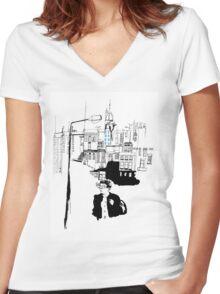 Waverley Bridge Women's Fitted V-Neck T-Shirt