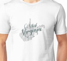 West Virginia State Typography Unisex T-Shirt