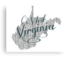 West Virginia State Typography Canvas Print
