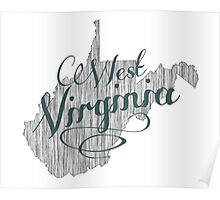 West Virginia State Typography Poster