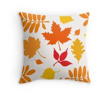 Classic Leaves Pattern Throw Pillow