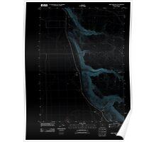 USGS Topo Map Oregon Home Creek Butte 20110818 TM Inverted Poster