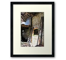 if these walls could talk..... Framed Print