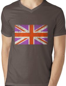 Punk Union Jack Flag Mens V-Neck T-Shirt