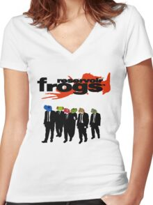 Reservoir Frogs Women's Fitted V-Neck T-Shirt