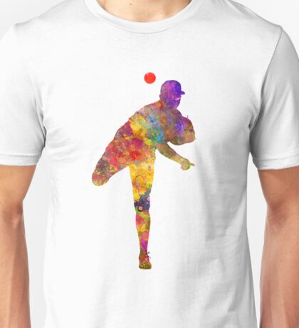 Baseball player throwing a ball Unisex T-Shirt
