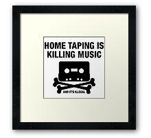 Cassette Bones - Home Taping Is Killing Music Framed Print