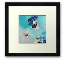 "Original contemporary art painting titled ""Mineral Leo"" - Inspired by gemstones and astrology. Framed Print"