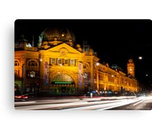 9:45 at Flinders Street Station - Melbourne Canvas Print