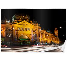 9:45 at Flinders Street Station - Melbourne Poster