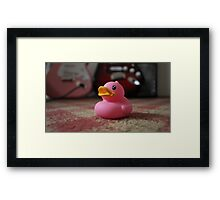 The Pink Duck Framed Print
