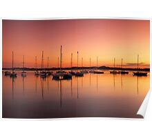 Beadnell Harbour at sunset Poster