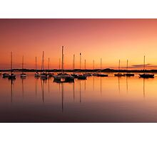 Beadnell Harbour at sunset Photographic Print