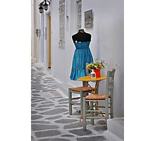Table, Chairs and Dress Photographic Print