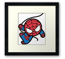 Crazy spider man Framed Print