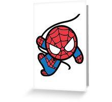 Crazy spider man Greeting Card