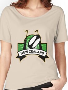 rugby ball goal post new zealand Women's Relaxed Fit T-Shirt