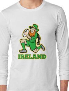 Irish leprechaun rugby player Ireland Long Sleeve T-Shirt