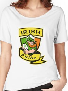 Irish leprechaun rugby player Ireland Women's Relaxed Fit T-Shirt