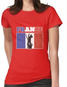 rugby player line out ball France Womens Fitted T-Shirt