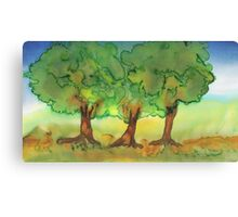 Three Strong Trees Canvas Print