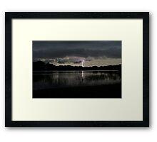 Lightning Reflected on Adair Framed Print