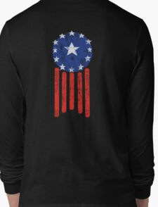Old World American Flag Long Sleeve T-Shirt