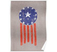 Old World American Flag Poster