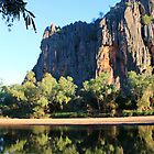 reflection at windjana gorge by nicole makarenco